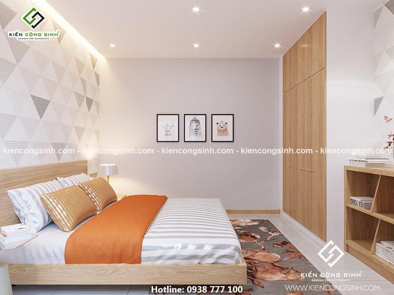 Nội thất phòng ngủ nhà phố tại Thủ Đức