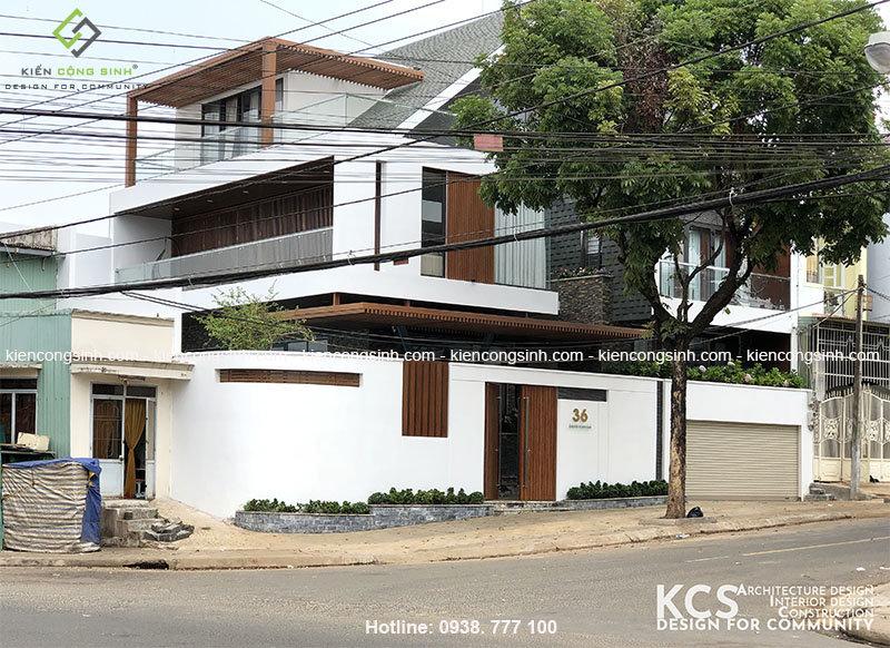 thi công xây dựng villa 2 tầng hoàn thiện