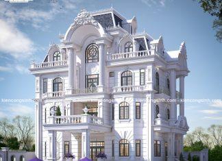 Mẫu thiết kế dinh biệt thự cổ điển đẹp Bình Thuận