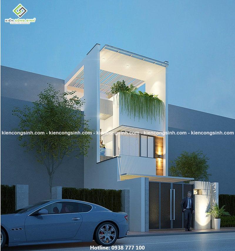 thiết kế nhà phố 3 tầng tại Đồng Nai