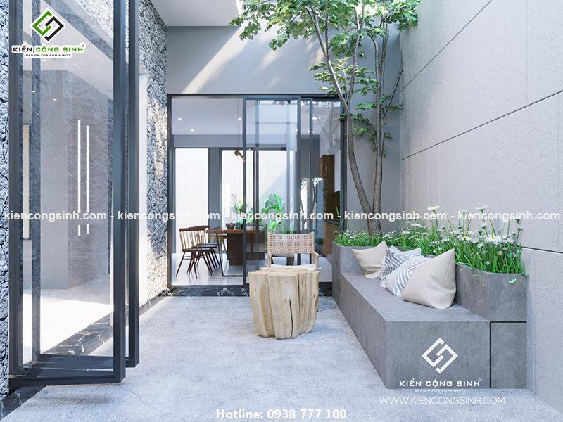 Thiết kế biệt thự phố 2 tầng 1 tum