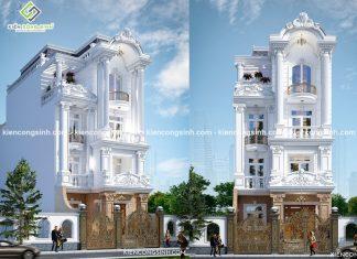 Thiết kế biệt thự cổ điển 4 tầng tại Phan Thiết