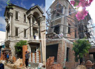 Thi công hoàn thiện nhà phố 3 tầng mái thái tại Phan Thiết