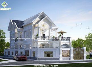 Mẫu biệt thự 2 tầng mái thái tại Bình Phước