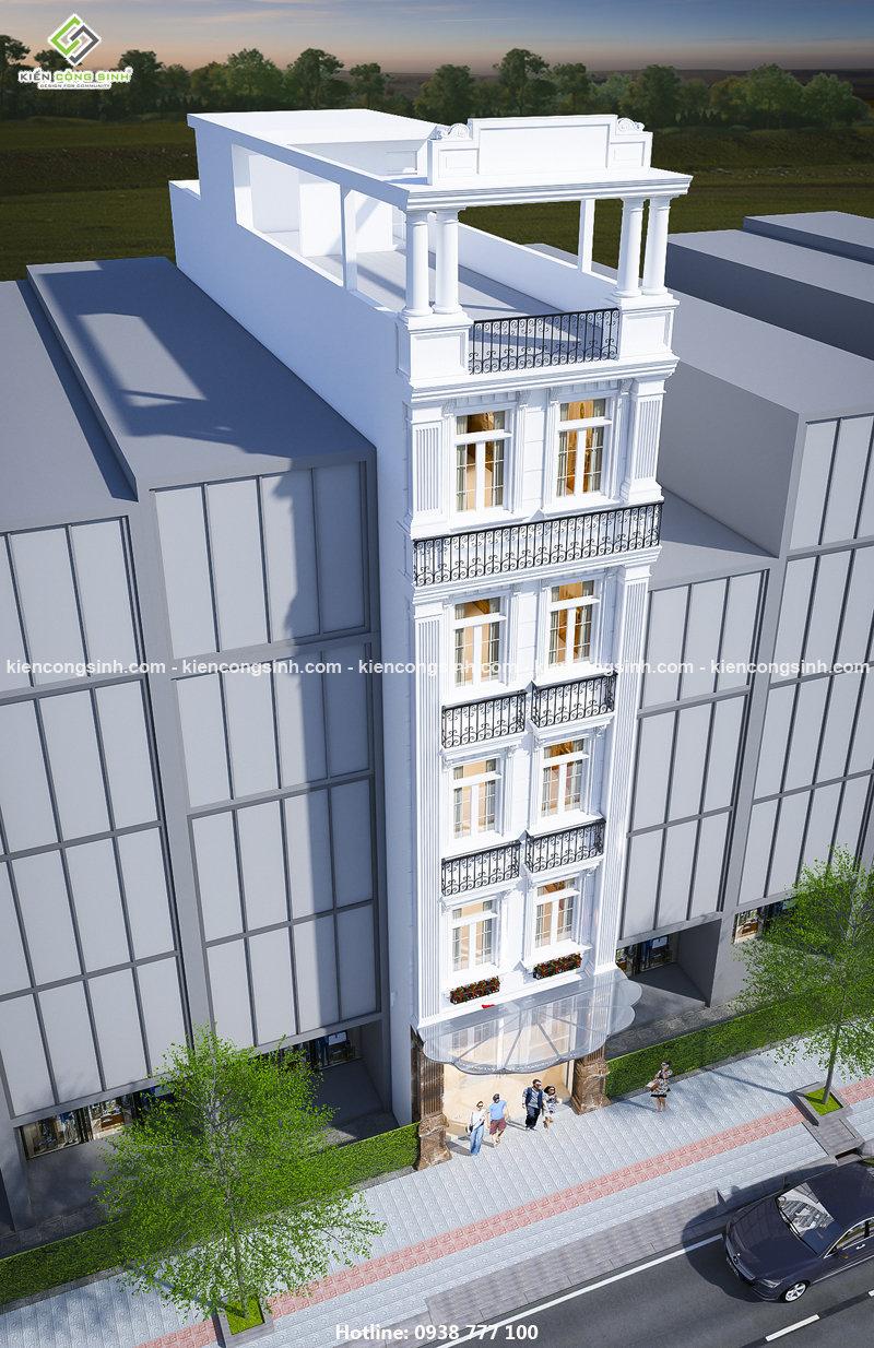 Thiết kế nhà nghỉ mặt tiền 5m