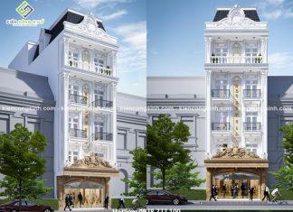 Mẫu thiết kế khách sạn mặt tiền 7m tại Phan Thiết