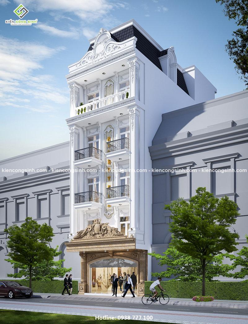 Thiết kế khách sạn mặt tiền 7m