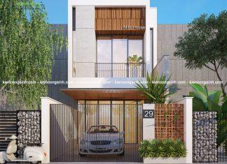 Tư vấn thiết kế nhà phố 2 tầng mặt tiền 5m