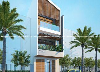 Mẫu thiết kế nhà phố 3 tầng hiện đại tại Bình Thuận