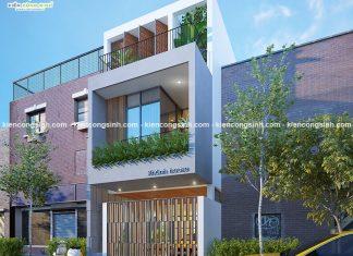 Thiết kế nhà phố hiện đại mặt tiền 5m tại Phan Thiết