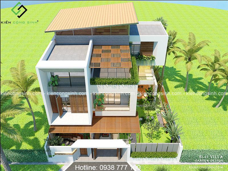 thiết kế biệt thự villa hiện đại