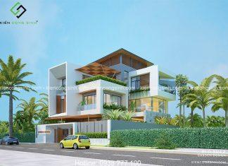 Thiết kế biệt thự villa hiện đại tại Bình Thuận