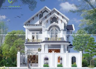 Thiết Kế Biệt Thự Vườn 2 Tầng Mái Thái Tại Quận 12