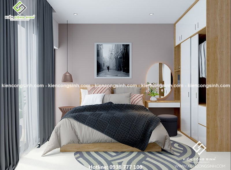 Thiết kế nhà phố 3 tầng phòng ngủ