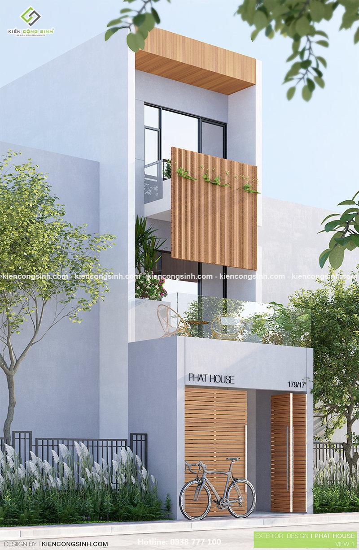 Thiết kế nhà phố 3 tầng tại Tân Bình