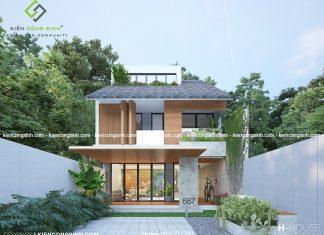 Thiết kế nhà phố 2 tầng tại Biên Hòa