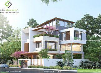 Mẫu thiết kế villa hiện đại 3 tầng tại Bình Thuận