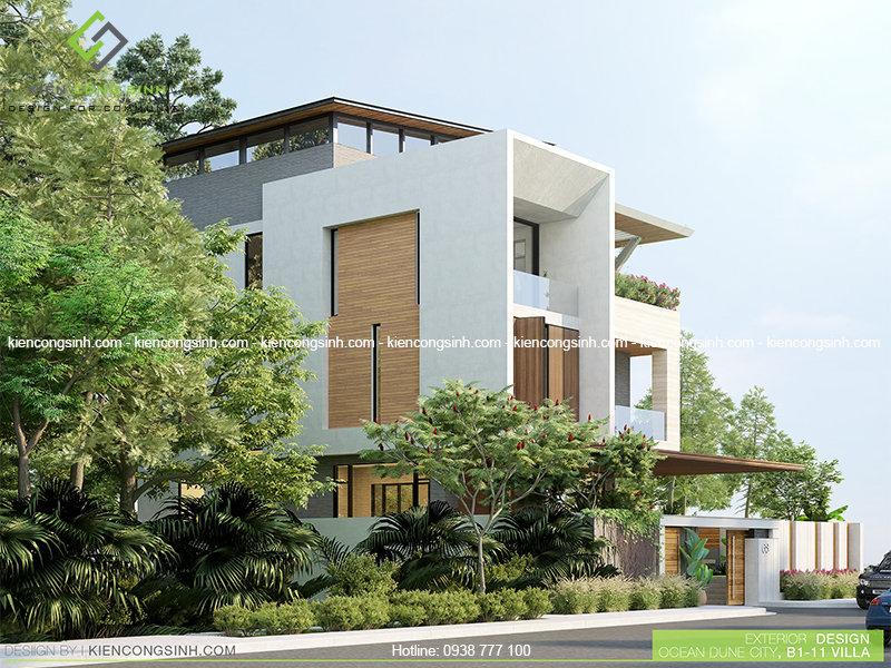Thiết kế villa hiện đại