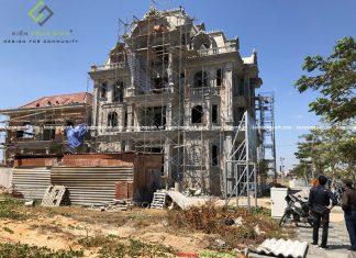 Công trình thi công dinh biệt thự anh Bình tại Bình Thuận