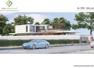 Thiết kế Villa biệt thự 2 tầng hiện đại tại Gia Lai