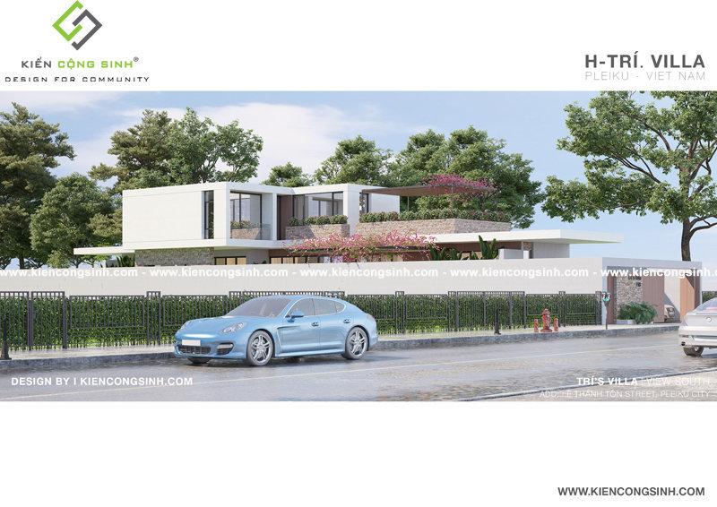 mẫu thiết kế villa biệt thự Gia Lai