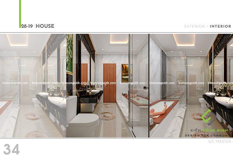 Thiết kế biệt thự cổ điển tại Đồng Nai Phòng ngủ