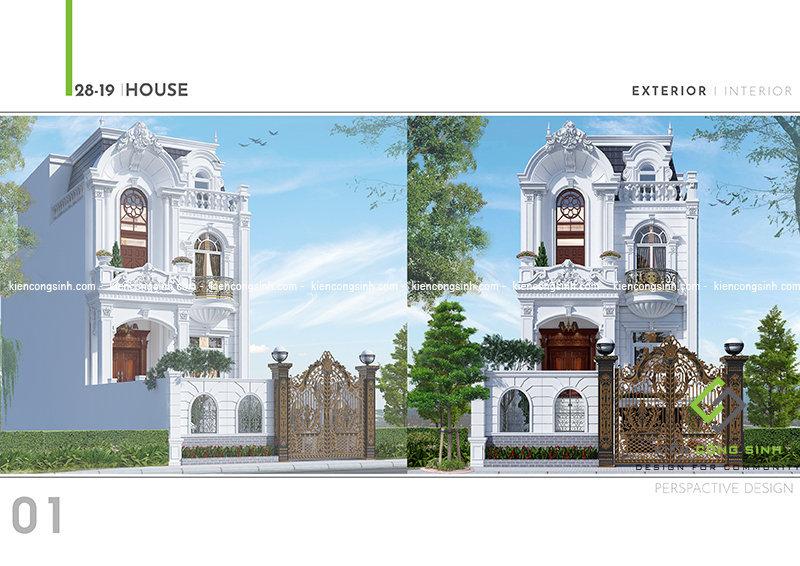 Thiết kế biệt thự cổ điển tại Đồng Nai