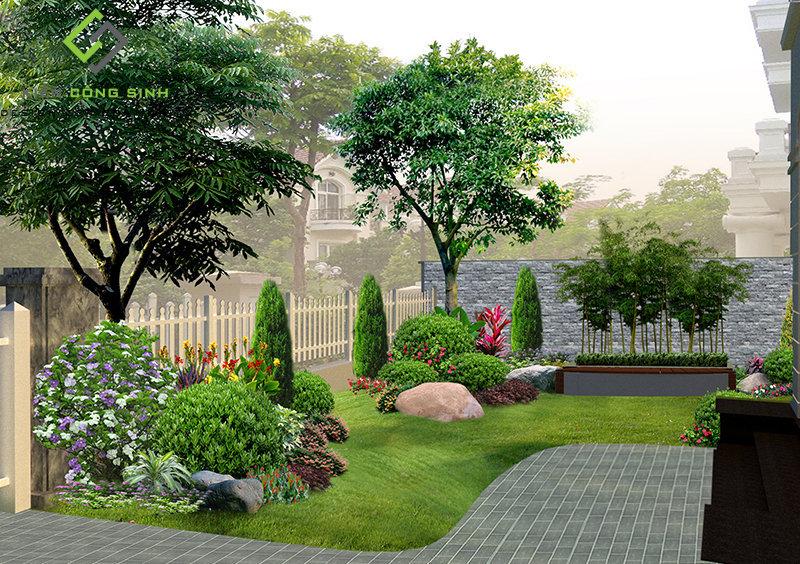 thiết kế tiểu cảnh sân vườn đẹp nhất