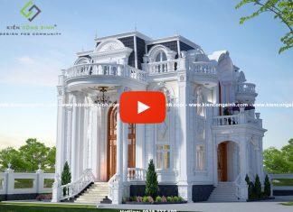 Thiết Kế Biệt Thự Cổ Điển 4 Tầng Tại Gia Lai| Dinh Biệt Thự | Lâu Đài Kiểu Pháp
