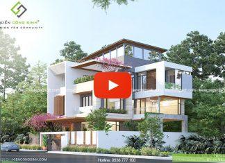 Video thiết kế villa biệt thự 3 tầng tại Gia Lai
