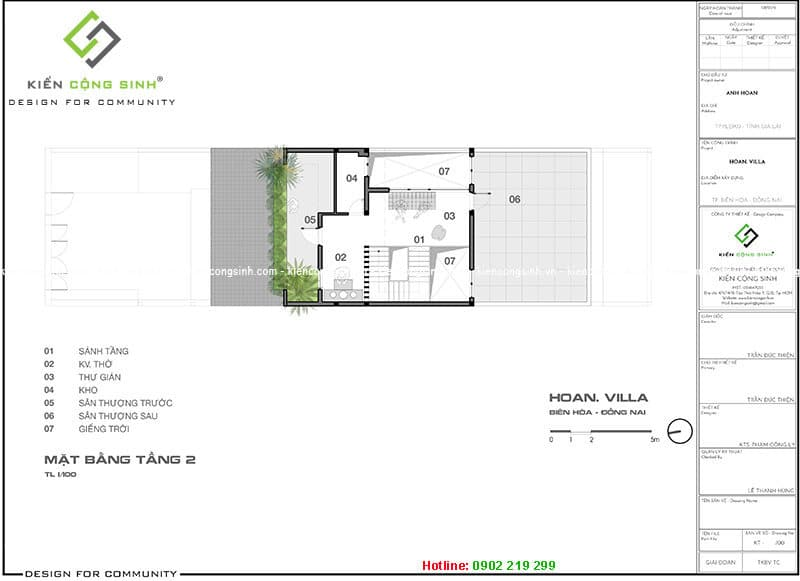 mặt bằng bố trí công năng biệt thự villa
