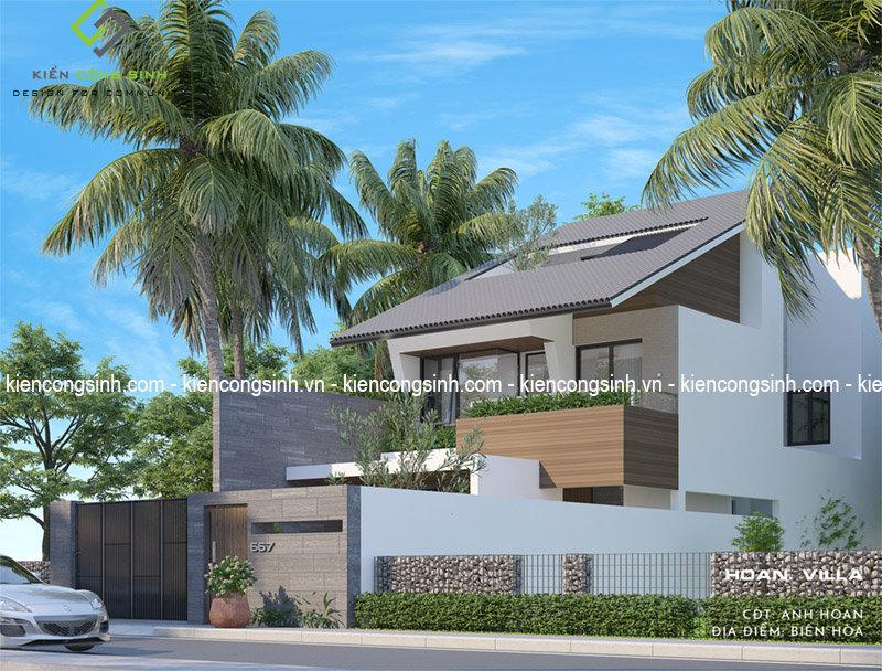 thiết kế villa hiện đại ngỉ dưỡng