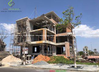 Công trình thi công phần thô Villa biệt thự hiện đại tại Bình Thuận
