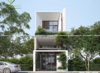 Thiết kế nhà phố 3 tầng hiện đại tại Củ Chi