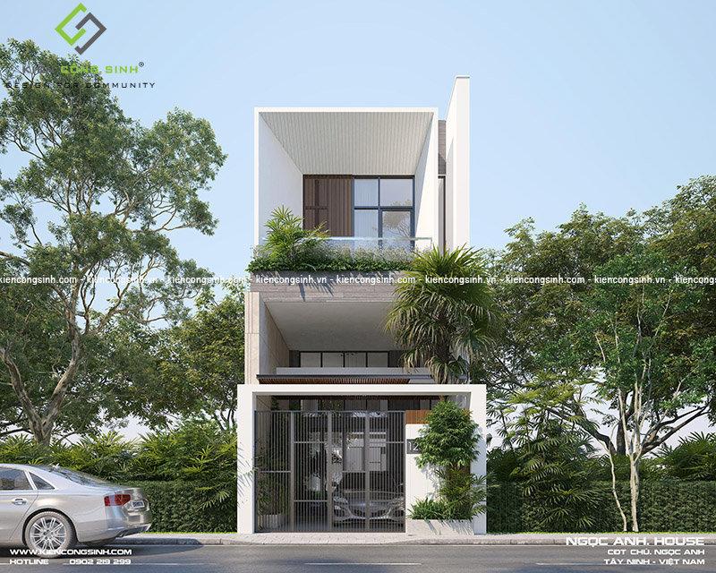 thiết kế nhà phố 3 tầng hiện đại