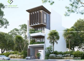 Tư vấn thiết kế nhà phố mặt tiền 7m tại Bình Thuận