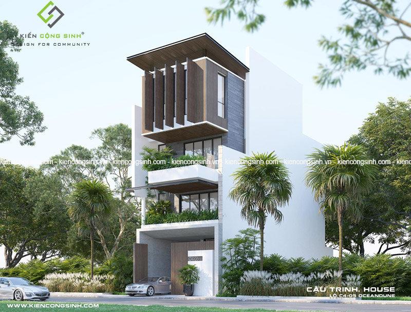 thiết kế nhà phố nặt tiền 7m