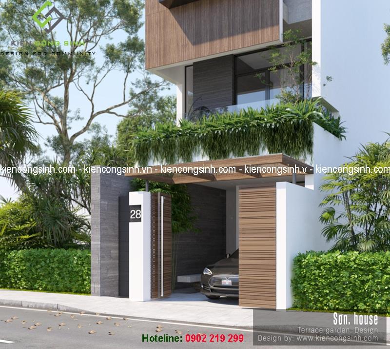 thiết kế nhà phố hiện đại Bình Dương
