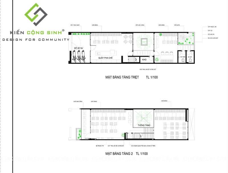thiết kế nhà ở kết hợp kinh doanh trà sữa
