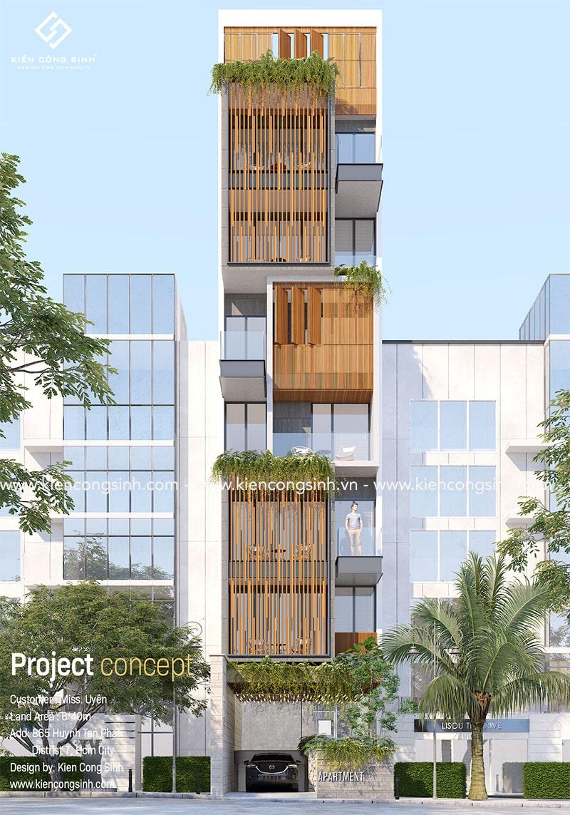 thiết kế nhà phố hiện đại quận 7