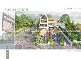 Thiết Kế Quán Cafe Sân Vườn Cá Koi tại Phan Thiết