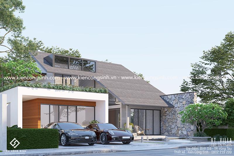 Thiết kế Villa Biệt thự Sân vườna