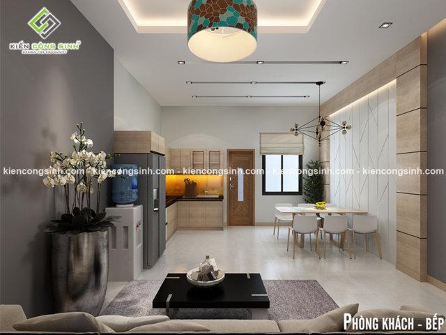 Nội thất phòng khách và bếp